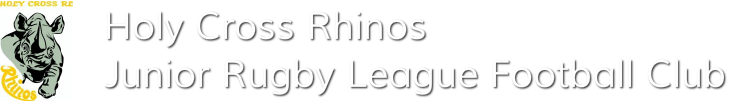 Holy Cross 'Rhinos' Junior Rugby League Football Club<br />Rhinofooty.com